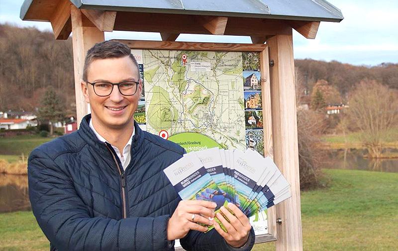 Beschilderung, Infotafeln und Folder für die Rundwege der Gemeinde Hohenroda