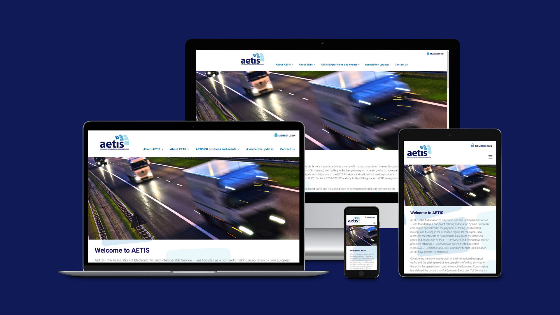 Redesign für AETIS (Association of Electronic Toll and Interoperable Service)