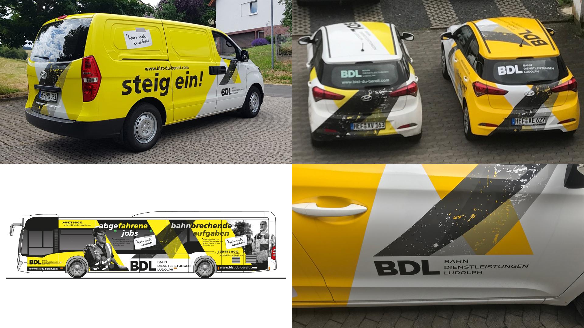 Fahrzeugbeschriftung, Carwrapping für BDL Bahndienstleistungen Ludolph GmbH