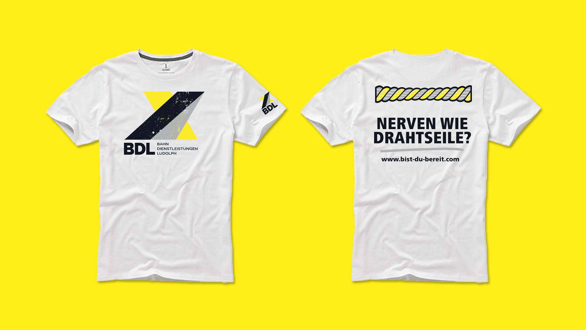 Textildruck für BDL Bahndienstleistungen Ludolph GmbH