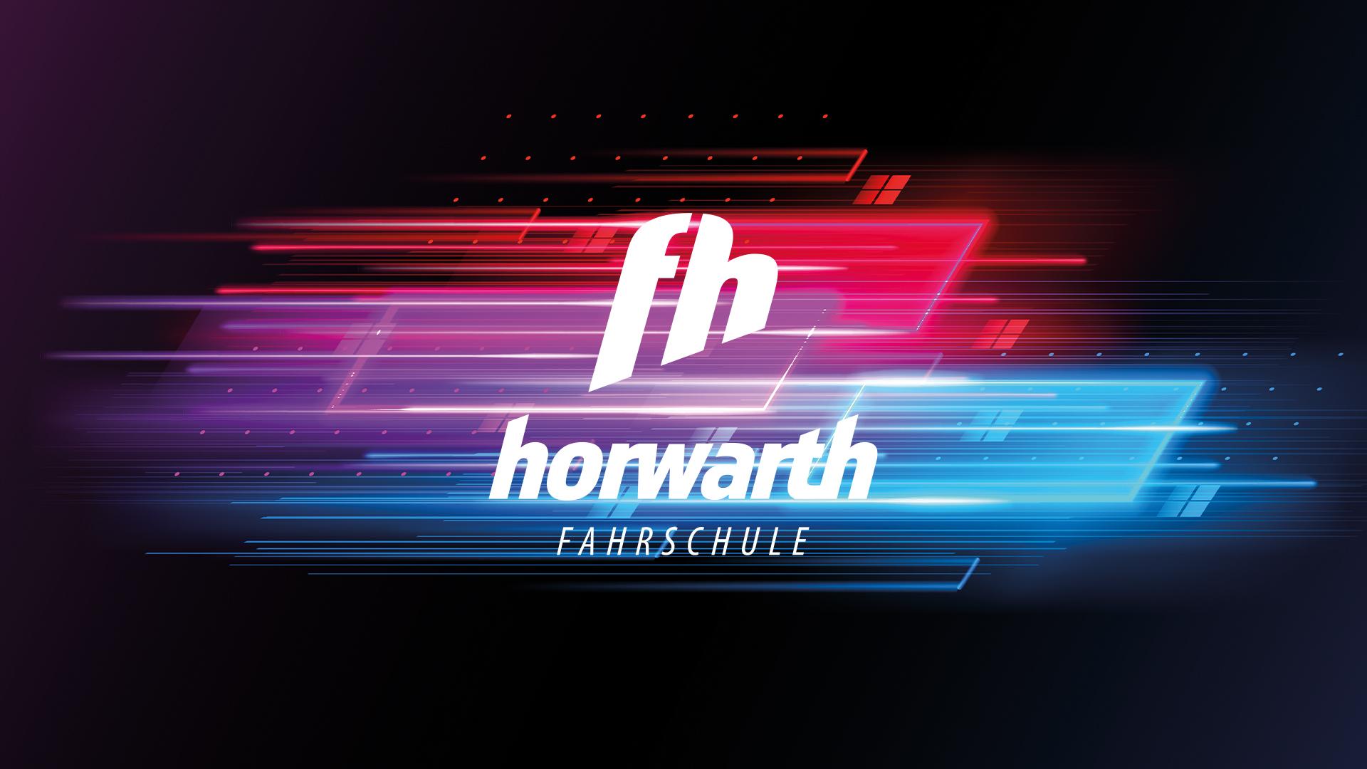 Logogestaltung Fahrschule Horwarth