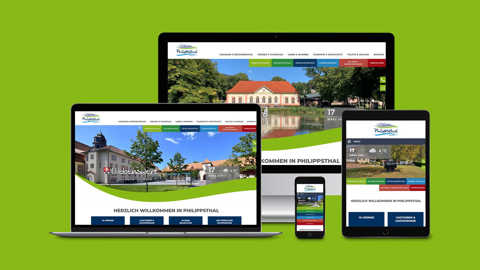 Marktgemeinde Philippsthal – Webdesign & Programmierung