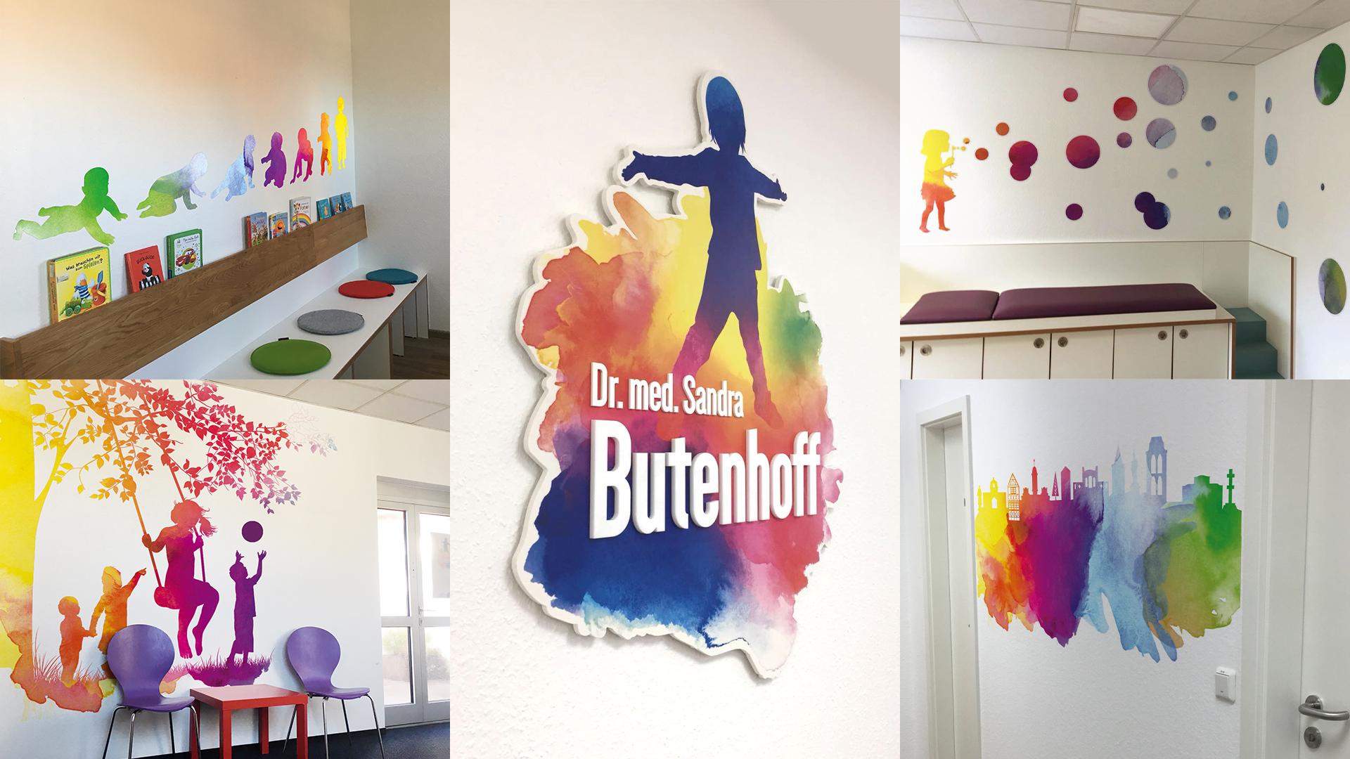 Werbetechnik Kinderarztpraxis Dr. Butenhoff