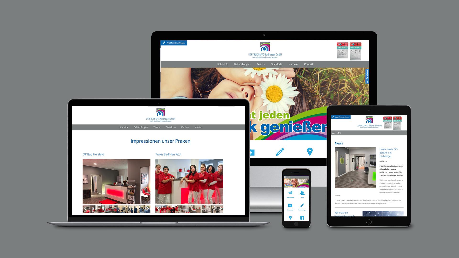 Webdesign – Lichtblick MVZ Nordhessen GmbH