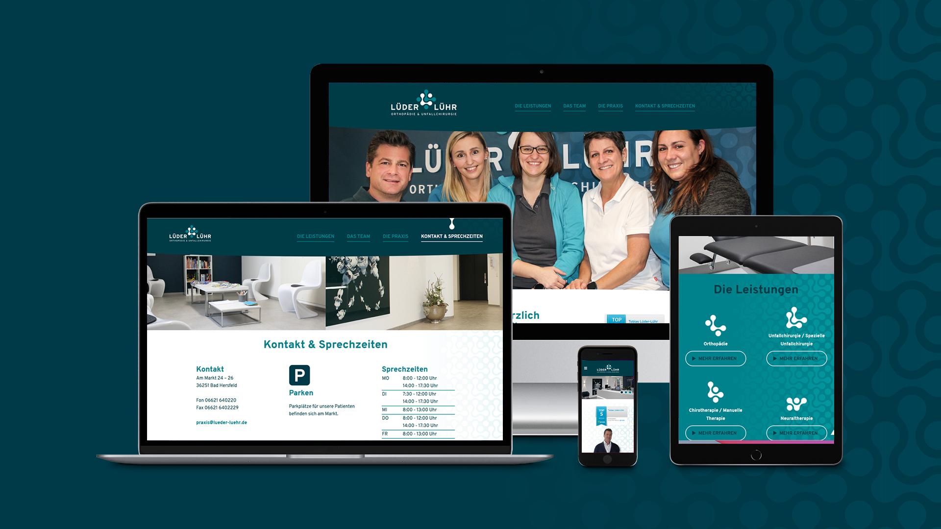 Webdesign – Lüder-Lühr Praxis für Orthopädie & Unfallchirurgie