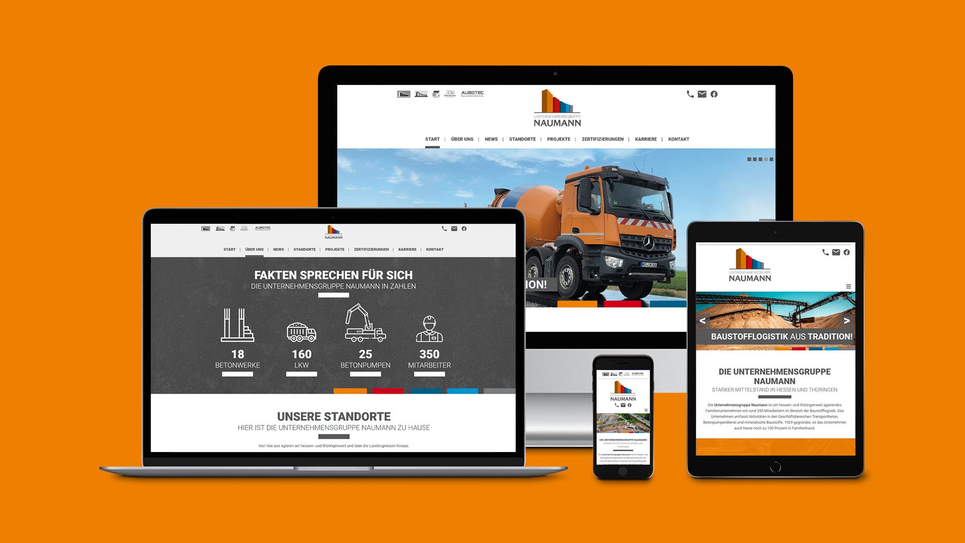 Webdesign – Unternehmensgruppe Naumann