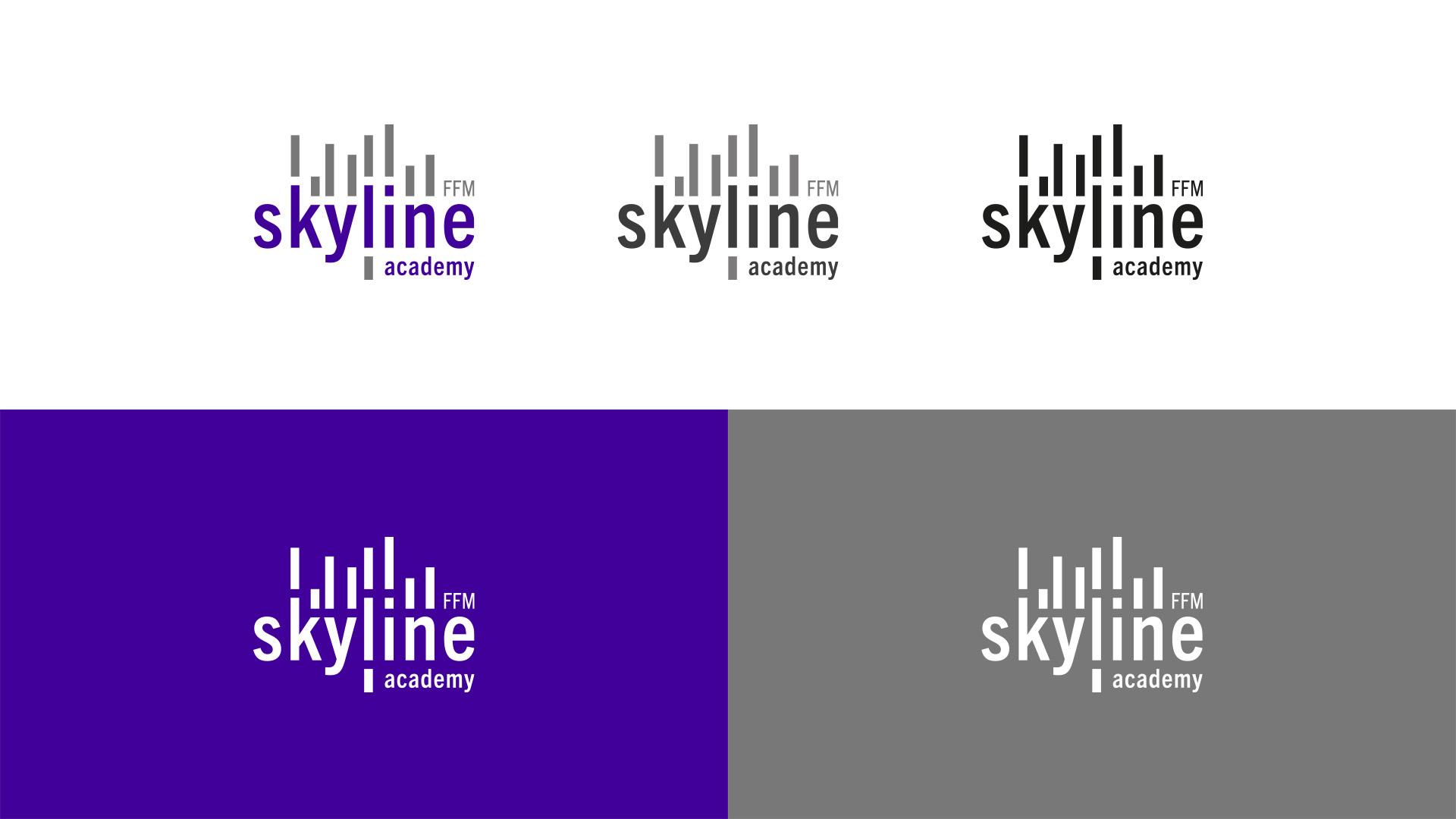 Logoentwicklung für die skyline academy in Frankfurt am Main.