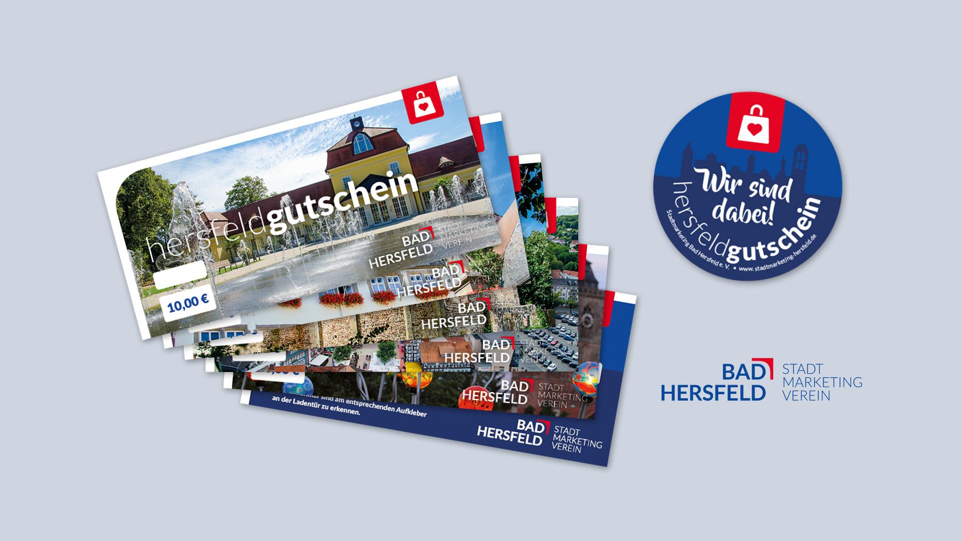 Gutscheine des Website des Stadtmarketing Bad Hersfeld e. V.