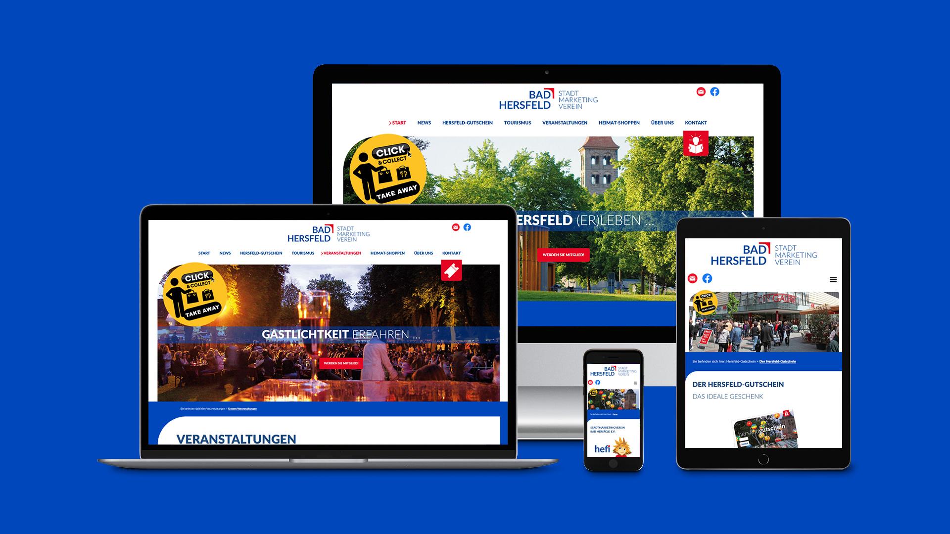 Website des Stadtmarketing Bad Hersfeld e. V.