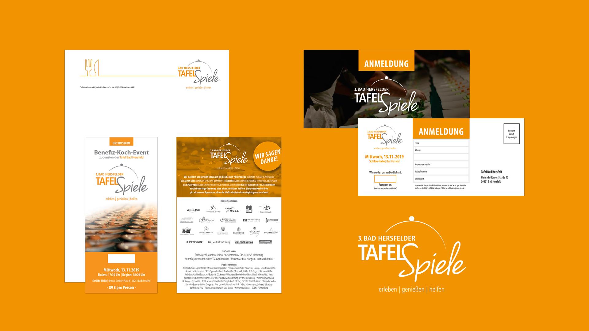 Printdesign der Tafelspiele der Tafel Bad Hersfeld