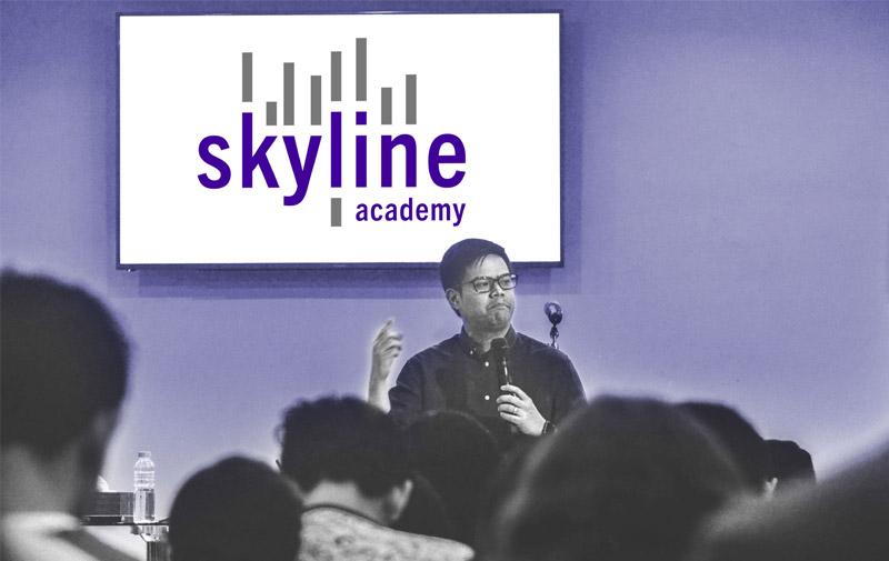 Markteinführung der skyline academy in Frankfurt